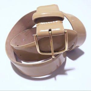 J. crew tan patent leather belt!